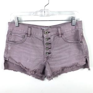 Free People Denim Cut Off Shorts Distressed #105